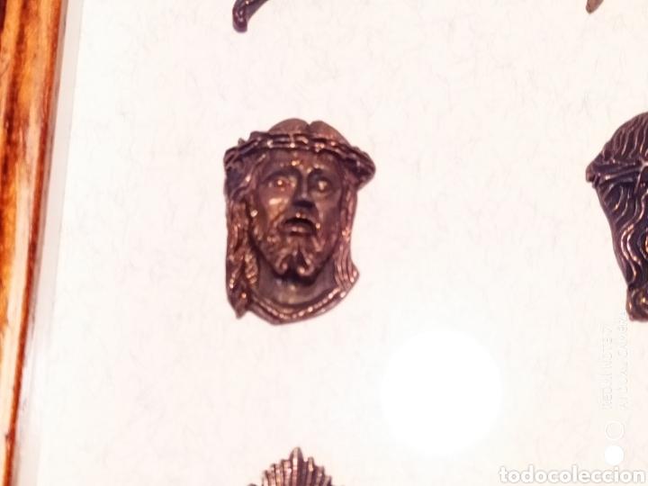 Antigüedades: ROSTROS DE CRISTOS DE ZAMORA, EN METAL, ENMARCADOS, ÚNICOS, VER - Foto 11 - 178250005