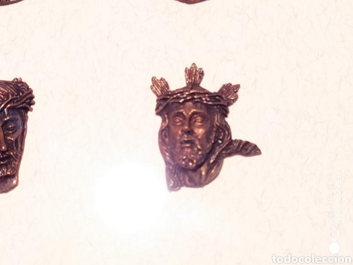 Antigüedades: ROSTROS DE CRISTOS DE ZAMORA, EN METAL, ENMARCADOS, ÚNICOS, VER - Foto 13 - 178250005