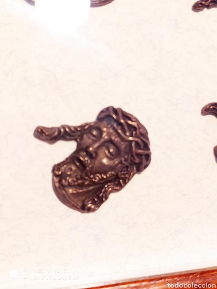 Antigüedades: ROSTROS DE CRISTOS DE ZAMORA, EN METAL, ENMARCADOS, ÚNICOS, VER - Foto 15 - 178250005