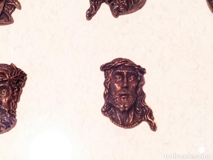 Antigüedades: ROSTROS DE CRISTOS DE ZAMORA, EN METAL, ENMARCADOS, ÚNICOS, VER - Foto 17 - 178250005