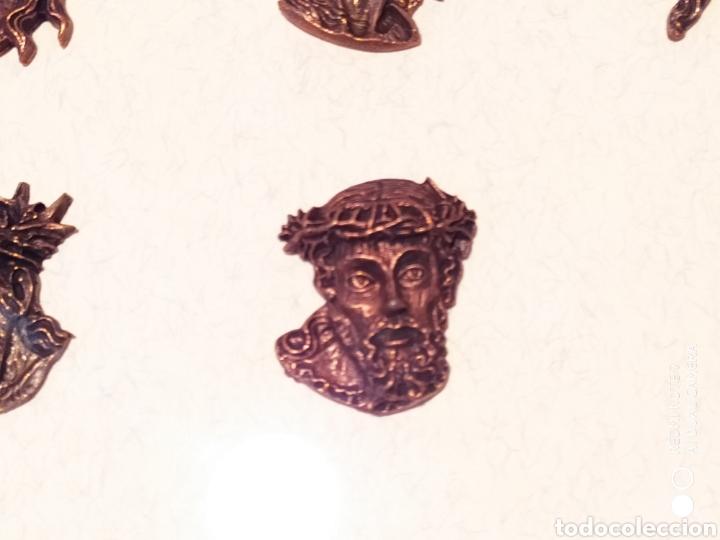 Antigüedades: ROSTROS DE CRISTOS DE ZAMORA, EN METAL, ENMARCADOS, ÚNICOS, VER - Foto 18 - 178250005