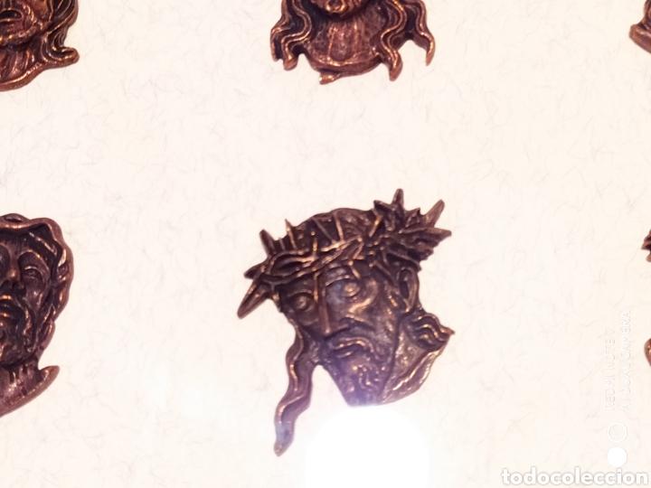 Antigüedades: ROSTROS DE CRISTOS DE ZAMORA, EN METAL, ENMARCADOS, ÚNICOS, VER - Foto 19 - 178250005