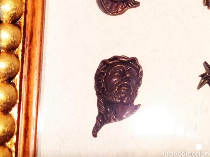 Antigüedades: ROSTROS DE CRISTOS DE ZAMORA, EN METAL, ENMARCADOS, ÚNICOS, VER - Foto 20 - 178250005