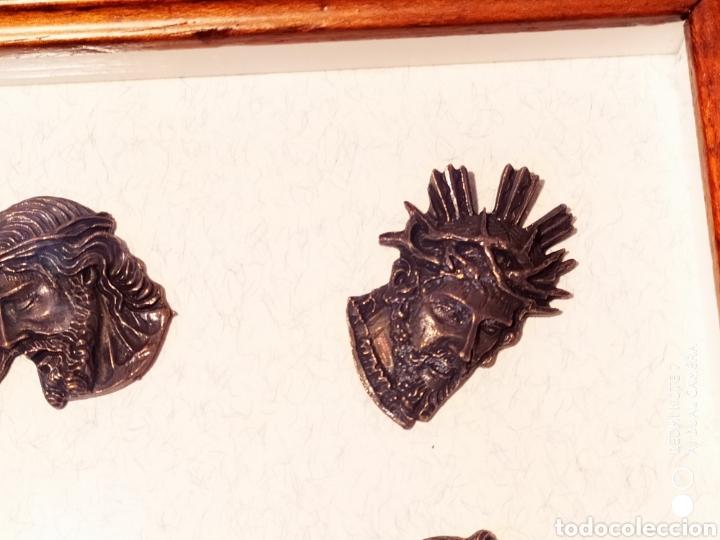Antigüedades: ROSTROS DE CRISTOS DE ZAMORA, EN METAL, ENMARCADOS, ÚNICOS, VER - Foto 21 - 178250005