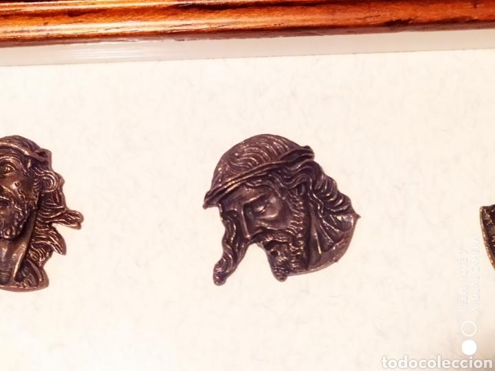 Antigüedades: ROSTROS DE CRISTOS DE ZAMORA, EN METAL, ENMARCADOS, ÚNICOS, VER - Foto 22 - 178250005