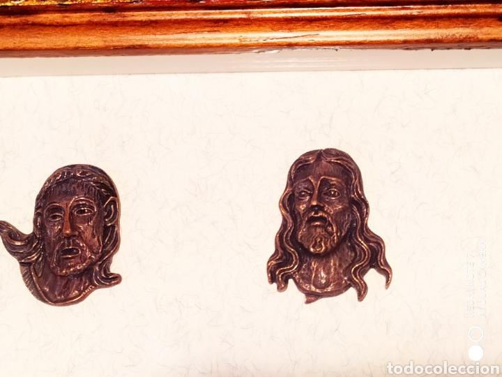 Antigüedades: ROSTROS DE CRISTOS DE ZAMORA, EN METAL, ENMARCADOS, ÚNICOS, VER - Foto 24 - 178250005