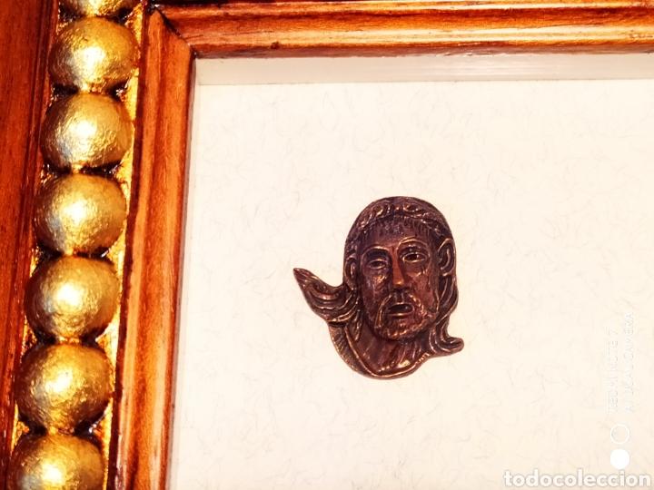 Antigüedades: ROSTROS DE CRISTOS DE ZAMORA, EN METAL, ENMARCADOS, ÚNICOS, VER - Foto 25 - 178250005