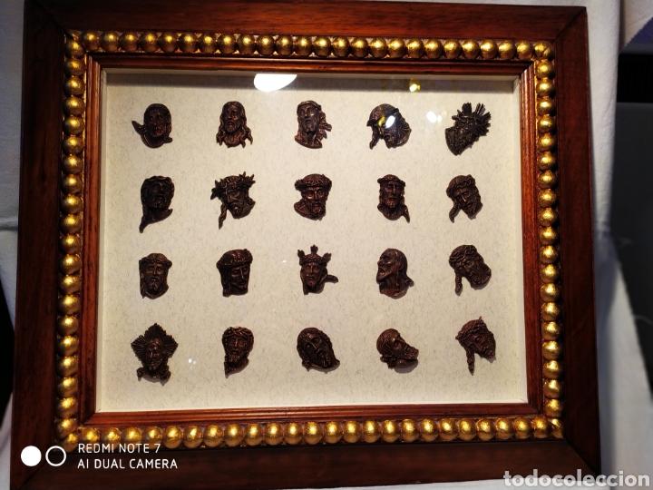 Antigüedades: ROSTROS DE CRISTOS DE ZAMORA, EN METAL, ENMARCADOS, ÚNICOS, VER - Foto 27 - 178250005
