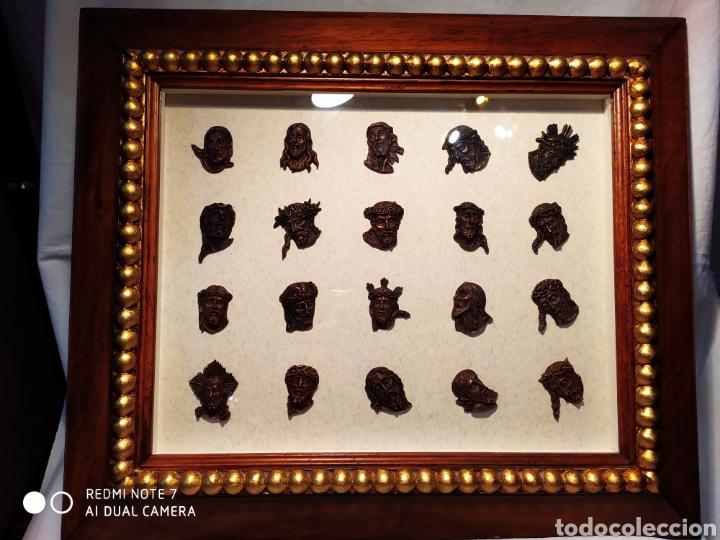 Antigüedades: ROSTROS DE CRISTOS DE ZAMORA, EN METAL, ENMARCADOS, ÚNICOS, VER - Foto 28 - 178250005
