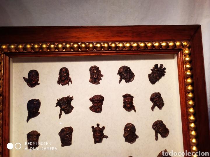 Antigüedades: ROSTROS DE CRISTOS DE ZAMORA, EN METAL, ENMARCADOS, ÚNICOS, VER - Foto 29 - 178250005