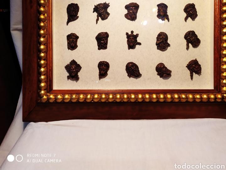 Antigüedades: ROSTROS DE CRISTOS DE ZAMORA, EN METAL, ENMARCADOS, ÚNICOS, VER - Foto 30 - 178250005