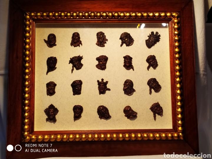 Antigüedades: ROSTROS DE CRISTOS DE ZAMORA, EN METAL, ENMARCADOS, ÚNICOS, VER - Foto 31 - 178250005