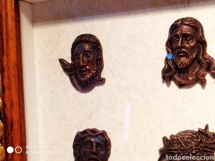 Antigüedades: ROSTROS DE CRISTOS DE ZAMORA, EN METAL, ENMARCADOS, ÚNICOS, VER - Foto 34 - 178250005