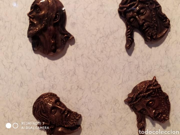Antigüedades: ROSTROS DE CRISTOS DE ZAMORA, EN METAL, ENMARCADOS, ÚNICOS, VER - Foto 36 - 178250005