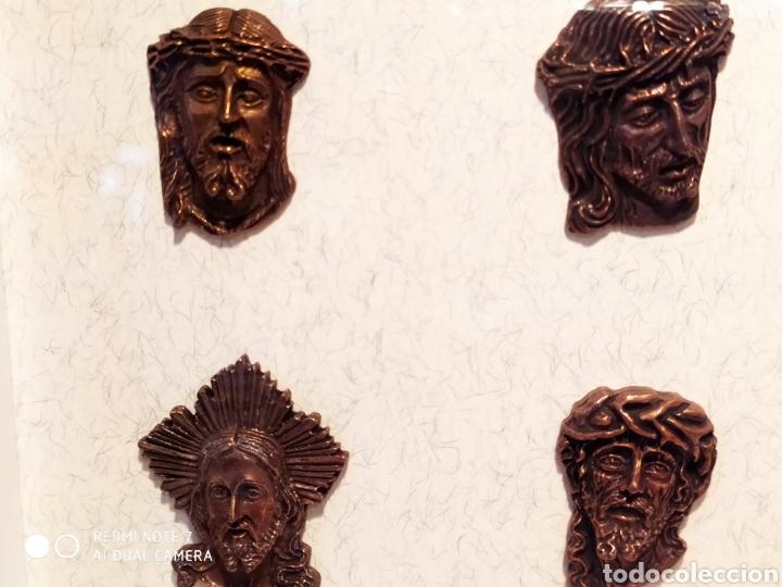 Antigüedades: ROSTROS DE CRISTOS DE ZAMORA, EN METAL, ENMARCADOS, ÚNICOS, VER - Foto 38 - 178250005