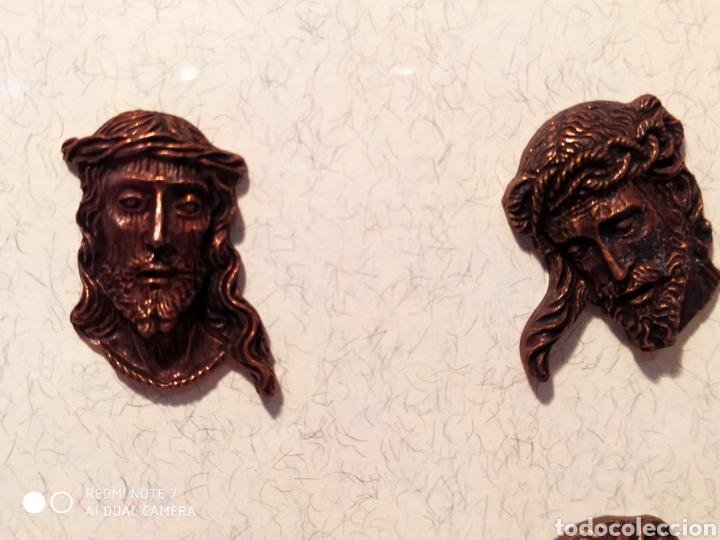Antigüedades: ROSTROS DE CRISTOS DE ZAMORA, EN METAL, ENMARCADOS, ÚNICOS, VER - Foto 39 - 178250005