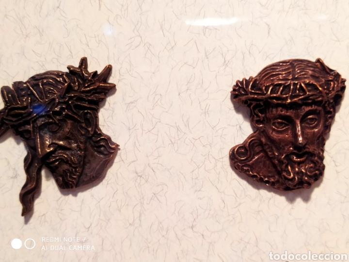 Antigüedades: ROSTROS DE CRISTOS DE ZAMORA, EN METAL, ENMARCADOS, ÚNICOS, VER - Foto 40 - 178250005