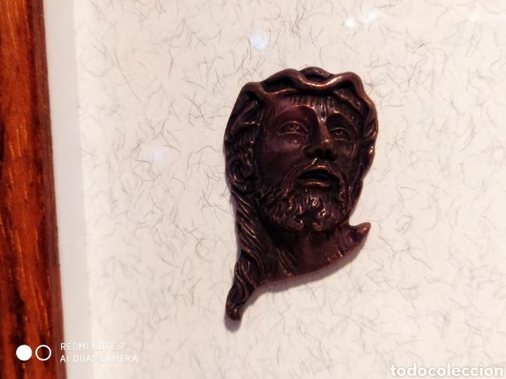 Antigüedades: ROSTROS DE CRISTOS DE ZAMORA, EN METAL, ENMARCADOS, ÚNICOS, VER - Foto 41 - 178250005
