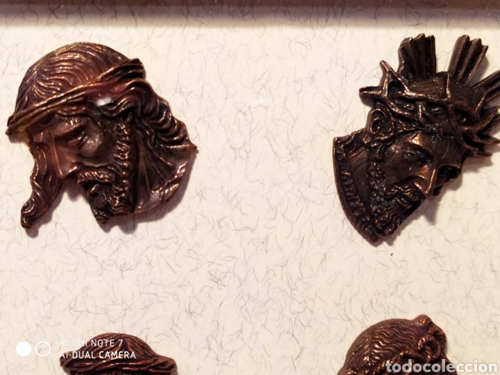 Antigüedades: ROSTROS DE CRISTOS DE ZAMORA, EN METAL, ENMARCADOS, ÚNICOS, VER - Foto 42 - 178250005