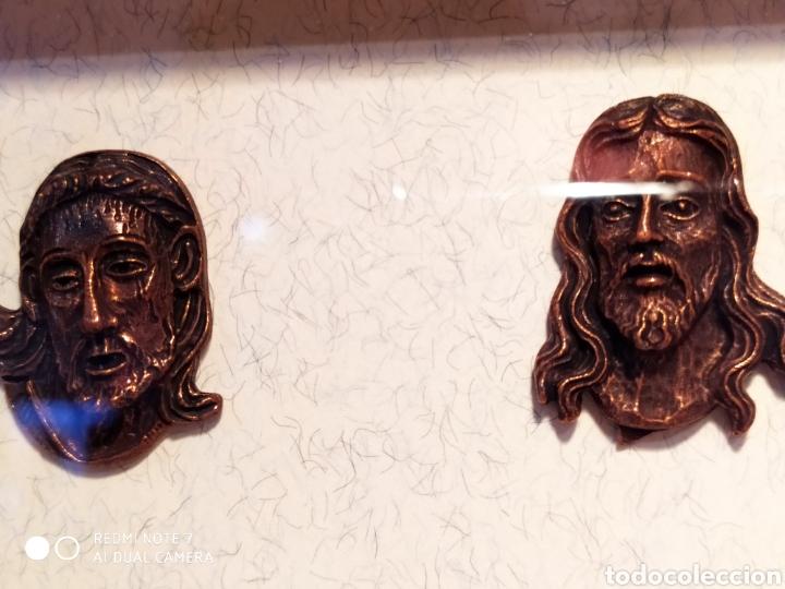 Antigüedades: ROSTROS DE CRISTOS DE ZAMORA, EN METAL, ENMARCADOS, ÚNICOS, VER - Foto 44 - 178250005
