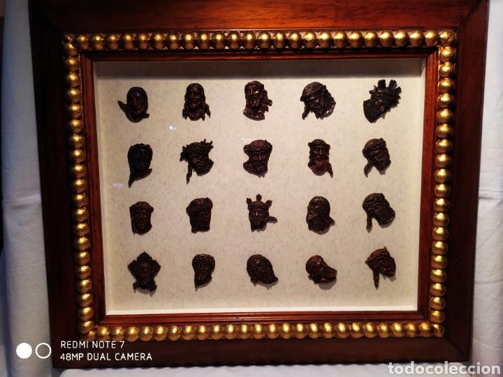 Antigüedades: ROSTROS DE CRISTOS DE ZAMORA, EN METAL, ENMARCADOS, ÚNICOS, VER - Foto 45 - 178250005