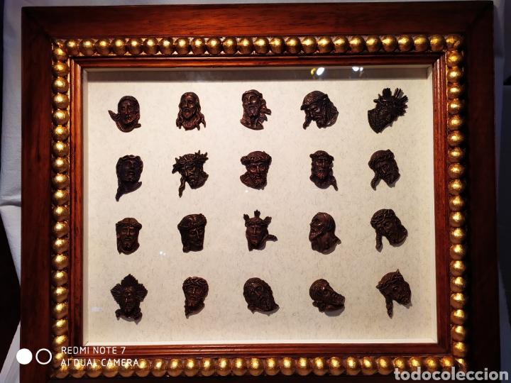 ROSTROS DE CRISTOS DE ZAMORA, EN METAL, ENMARCADOS, ÚNICOS, VER (Antigüedades - Religiosas - Orfebrería Antigua)