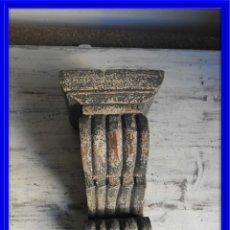 Antiquités: MENSULA PARA COLOCAR FIGURA EN TONO GRIS ENVEJECIDO. Lote 222796742