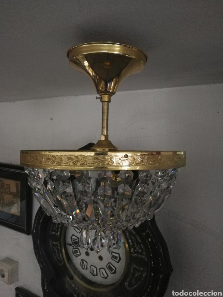Antigüedades: LÁMPARA VINTAGE, CRISTALES DE ROCA. - Foto 3 - 178239445
