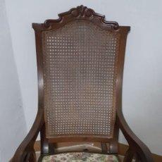Antigüedades: ANTIGÜA Y BONITA MECEDORA ISABELINA EN MADRRA DE CAOBA , FINALES SIGLO XIX -PRICIPIOS XX .. Lote 178283281