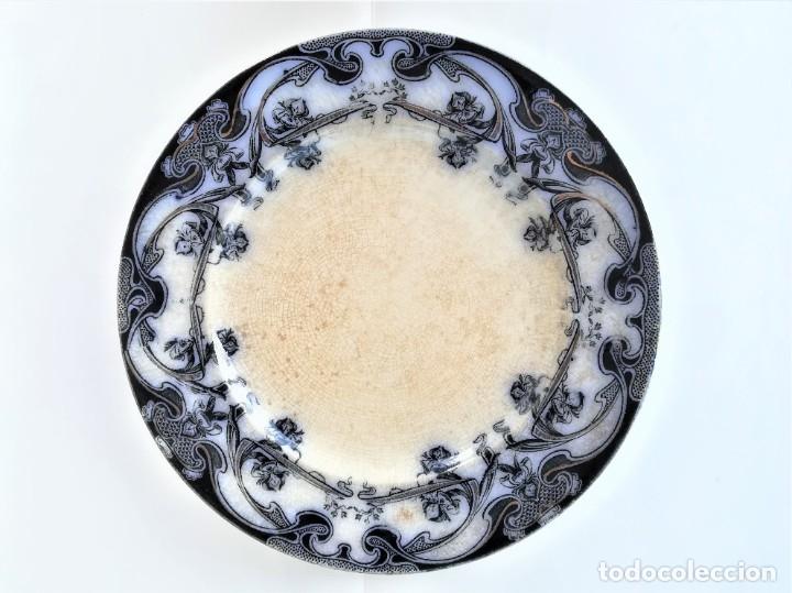 PLATO DE CERAMICA INGLESA,LUSITANIA ROYAL,AÑO 1905-DE BUQUE HUNDIDO POR TORPEDO,SIMILAR COMO TITANIC (Antigüedades - Porcelanas y Cerámicas - Inglesa, Bristol y Otros)