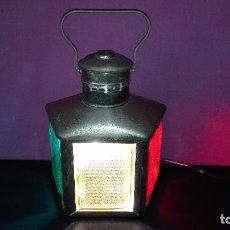 Antigüedades: LAMPARA FAROL TRICOLOR. Lote 178294591