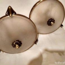 Antiquités: 2 LAMPARAS DE TECHO VINTAGE DE BENETUSER-VALENCIA. Lote 178298035