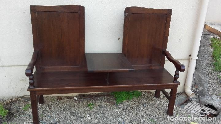 Antigüedades: Banco escaño con mesa, elemento típico del caserío vasco - Foto 2 - 178312493