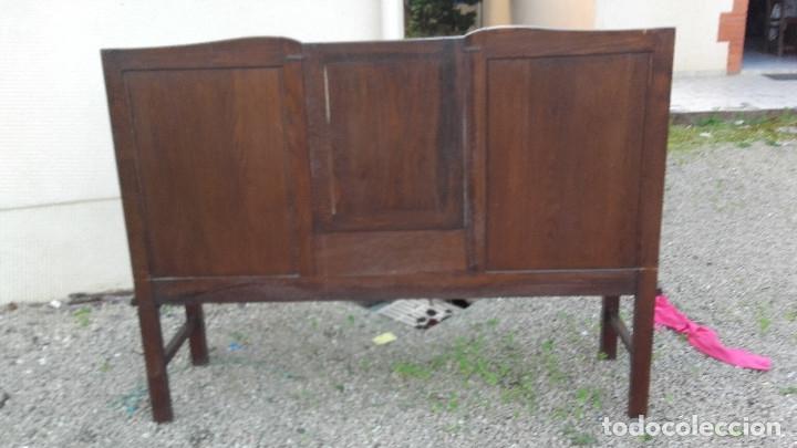 Antigüedades: Banco escaño con mesa, elemento típico del caserío vasco - Foto 7 - 178312493