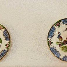 Antigüedades: PAREJA DE ANTIGUOS PLATOS DE PORCELANA CHINA. Lote 178321763