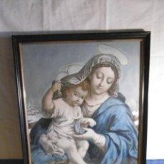 Antigüedades: CUADRO VIRGEN CON NIÑO JESÚS. ISABELINO.. Lote 178331525