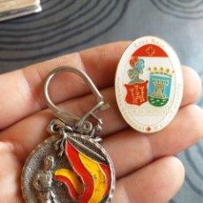 Antigüedades: PIN CRUZ ROJA Y LLAVERO JURA DE BANDERA C.I.R -16. Lote 178333910