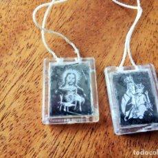 Antiquités: NUESTRA SEÑORA DEL CARMEN Y CRISTO CORAZÓN DE JESÚS.. Lote 178335973