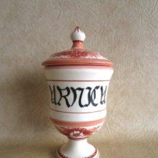 Antigüedades: ANTIGUO BOTE DE FARMACIA ARNICA CERAMICA. Lote 148773910