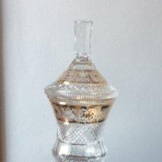 Antigüedades: BOMBONERA DE CRISTAL DE BOHEMIA . Lote 178340623
