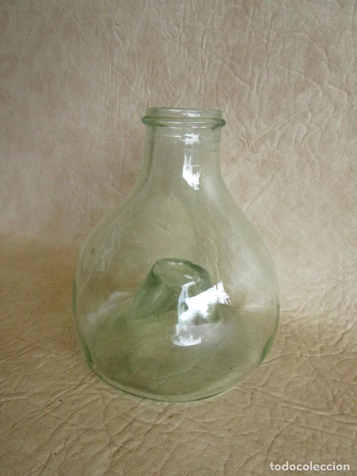 Antigüedades: antiguo atrapamoscas o mosquitos del vino cristal soplado atrapa moscas - Foto 2 - 43502557