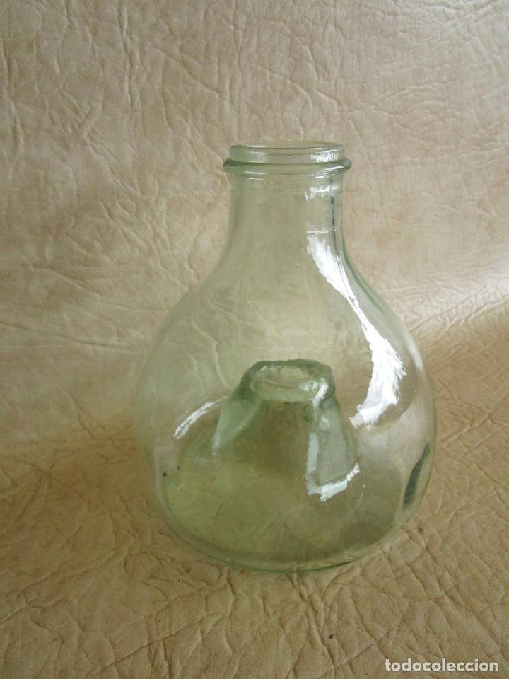 Antigüedades: antiguo atrapamoscas o mosquitos del vino cristal soplado atrapa moscas - Foto 3 - 43502557