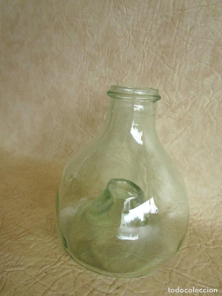 Antigüedades: antiguo atrapamoscas o mosquitos del vino cristal soplado atrapa moscas - Foto 4 - 43502557