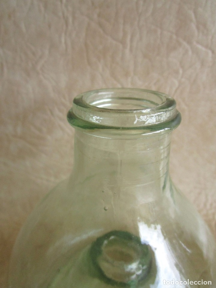 Antigüedades: antiguo atrapamoscas o mosquitos del vino cristal soplado atrapa moscas - Foto 5 - 43502557