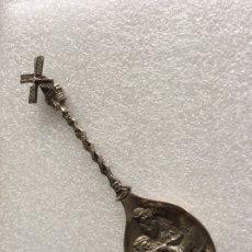 Antigüedades: PRECIOSA CUCHARA HOLANDESA EN PLATA CON ESCENAS CONSTUMBRISTAS Y ASPAS DE MOLINO MÓVILES. Lote 178356453