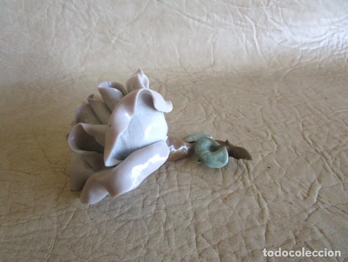 Antigüedades: ANTIGUA ROSA FLOR DE PORCELANA FIRMADA 10 CM X 6 CM - Foto 4 - 159666646