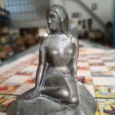 Antigüedades: PEQUEÑA ESCULTURA, THE LITTLE MERMAID, KOBENHAVN. LA PEQUEÑA SIRENA.. Lote 178369620