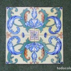 Antigüedades: AZULEJOS PINTADOS VALENCIANOS SIGLO XIX. Lote 178387301