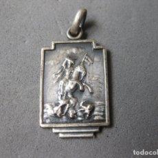 Antigüedades: PEQUEÑA MEDALLA RELIGIOSA RECUERDO DE SANTIAGO. Lote 178390796