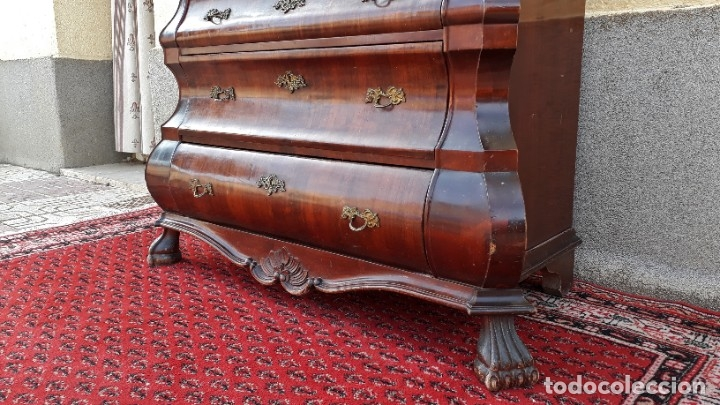 Antigüedades: Bureau antiguo estilo Chippendale. Escritorio secretaire antiguo estilo inglés Mueble buró cajonera. - Foto 13 - 178391765